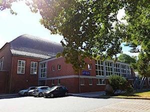 Ansicht der HTBU Traingshalle Klinikweg 10